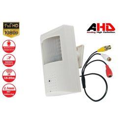 AHD 1080p 2MP RIASZTÓ ÉRZÉKELŐBE REJTETT MINI KAMERA, IR infravörös, BNC koaxiális kamera videó megfigyelés beltéri használatra