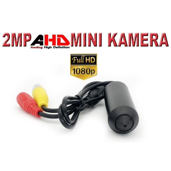 AHD 1080P Mini otthoni térfigyelő kamera | BNC koaxiális kamera, kicsi, fekete,  3,7 mm lencsével, fém kamera