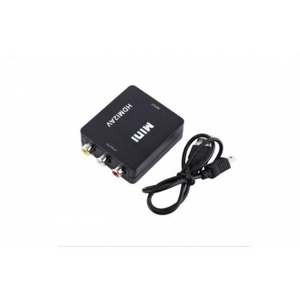 Mini Composite HDMI-RCA / HDMI-AV-CVBS Video Audio Adapter Converter 1080P HD