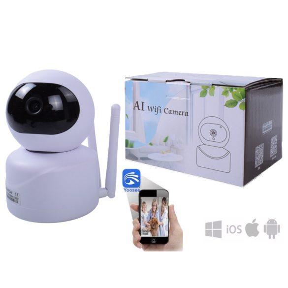 WiFi KAMERA AI TECHNOLÓGIÁVAL 720P IP kamera  az emberek otthoni biztonsági megfigyelésére