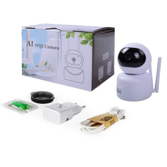 WiFi KAMERA AI TECHNOLÓGIÁVAL 1080P intelligens automatikus követése IP kamera  az emberek otthoni biztonsági megfigyelésének