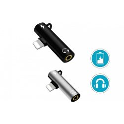 LIGHTNING 2az1-ben töltés+ 3,5 mm-es Jack Aux fejhallgató-adapter Splitter