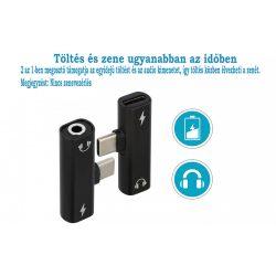 2in1 TYPE-C apa - AUDIO 3,5 mm-es JACK anya  - TYPE-C anya