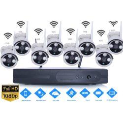 8 db Vezeték nélküli IP kamerás rendszer szett 1.3MPX