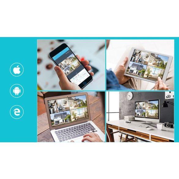 8 db Vezeték nélküli IP kamerás rendszer szett 1.0MP 720P