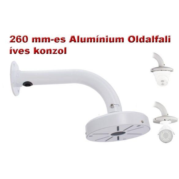 260 mm-es Alumínium Oldalfali íves konzol DOME kamerákhoz