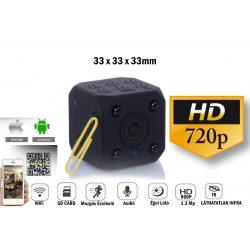 Akkumulátoros MINI WiFi-s kamera 1.3Mpx
