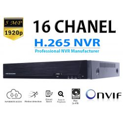 16CH 5MP  CCTV NVR RÖGZÍTŐ, H.265 ONVIF