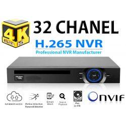 NVR RÖGZÍTŐ 32 CSATORNA, 5.0MP / 32 CH 1080P/ 8 CH 4K, ONVIF, H.256