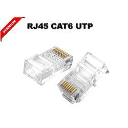 RJ45 csatlakozó CAT6 hálózati kábel vezeték csatlakoztatásához CCTV PREMIUM MINÖSÉG