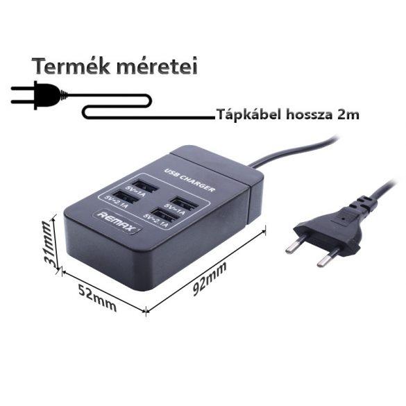 4 portos hálózati USB töltő adapter 6.2A