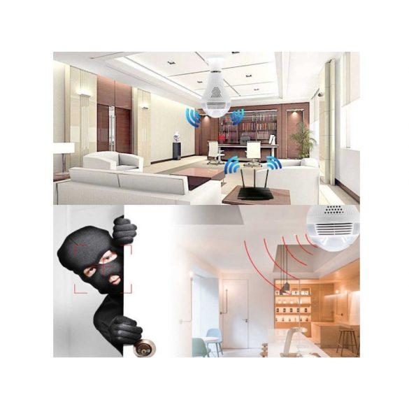 WIFI-s panorámakamera 360° E 27 foglalatú 960p