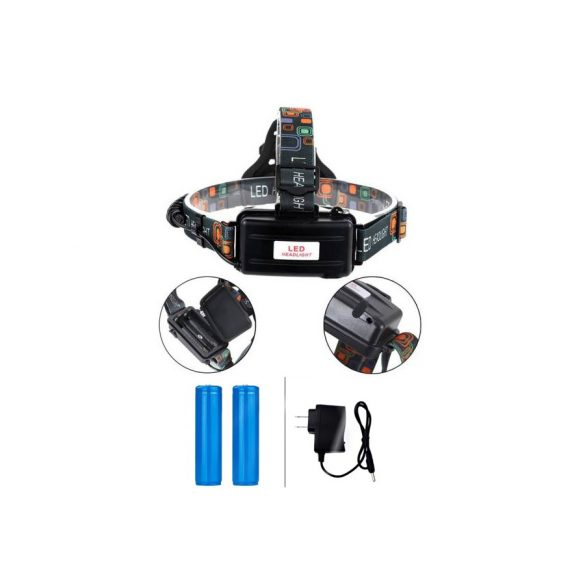 Multi funkciós nagy fényerejű 3 lámpás akkus fejlámpa