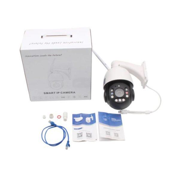 5MP Wifi PTZ IP Kamera AI Emberialak Követés, Kétirányú Audio, 30X Optikai Zoom Auto Fókusz,  Kültéri, Onvif, CamHiAPP