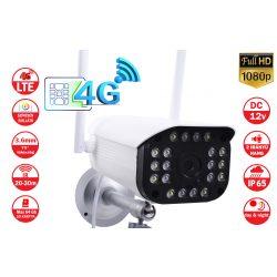 2MP 4G vezeték nélküli SIM-kártyás IP-kamera, kültéri, két irányú hanggal