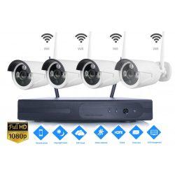 4 db Vezeték nélküli IP kamerás  rendszer szett 2.0MPX FULL HD