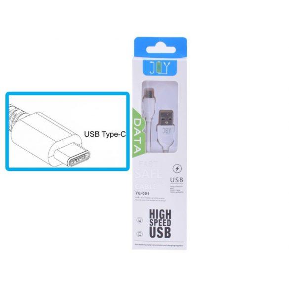 TYPE-C töltő és adatkábel 1 méteres