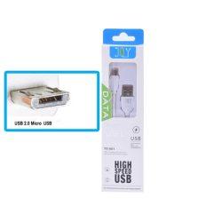 Micro USB töltő és adatkábel 1  méteres