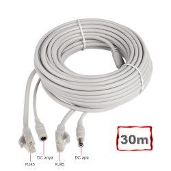 Szerelt Patch Kábel + Táp Kábel 30M