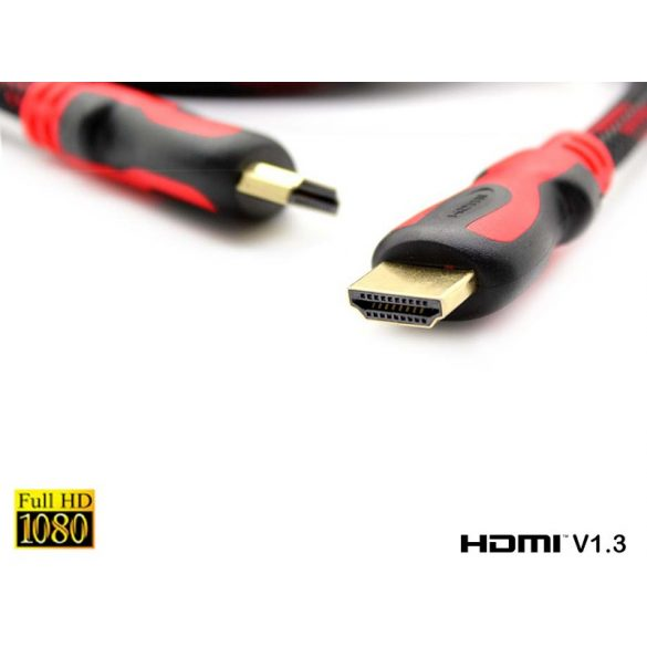 HDMI Kábel 3 m nagy sebességű HDMI V1.3 hím-hím digitális A / V kábel, teljes 1080P