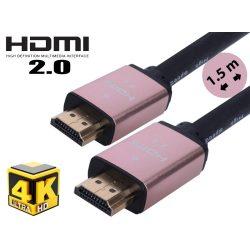 1.5m-es NAGY SEBESSÉGŰ HDMI Kábel 2.0v, 4K-60Hz, ARANYOZOTT APA-APA CSATLAKOZÓ