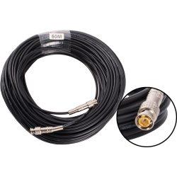 Premium 50m-es Előre szerelt videó biztonsági koax kábel RG58 BNC dugó – BNC dugó