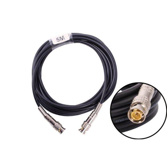 Premium 5m-es Előre szerelt videó biztonsági koax kábel RG58 BNC dugó – BNC dugó