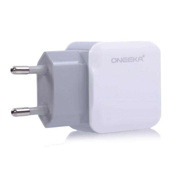 Hálózati töltő,  Micro USB / Lighting adat kábellel, 2 USB 2.1A