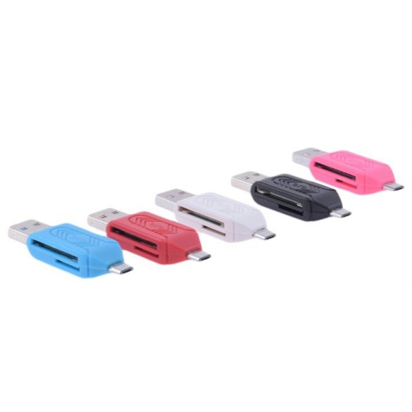 Kártyaolvasó SD / Micro SD OTG+USB Micro USB  adapter