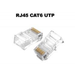RJ45 csatlakozó CAT6 moduláris csatlakozó, átlátszó