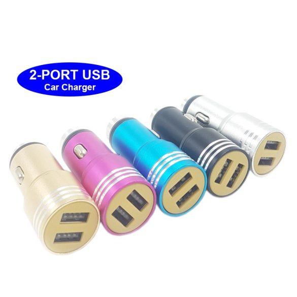 Autós USB töltő,DUAL USB 2000 mA